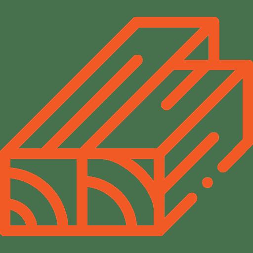 Verschillende lengtes stammen met zaagkloofmachine